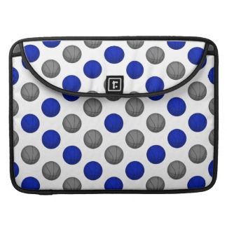 Blue and Gray Basketball Pattern MacBook Pro Sleeve