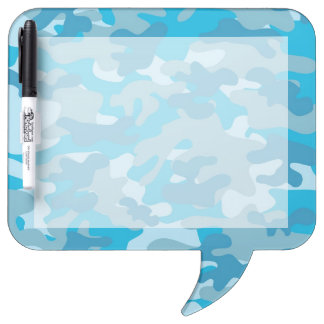 Blue and Gray Camo Design Dry-Erase Board