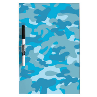 Blue and Gray Camo Design Dry Erase Board