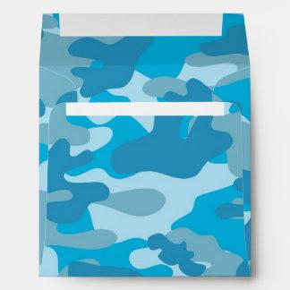 Blue and Gray Camo Design Envelope