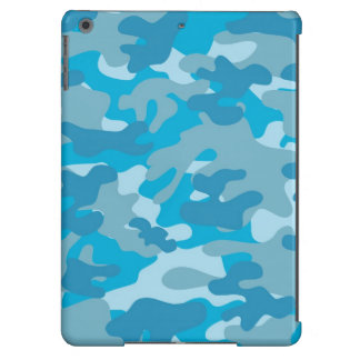 Blue and Gray Camo Design iPad Air Cases