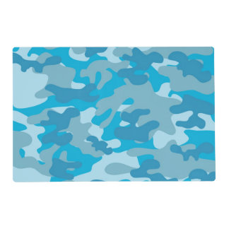 Blue and Gray Camo Design Placemat