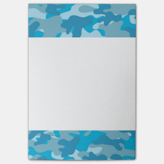 Blue and Gray Camo Design Post-it Notes