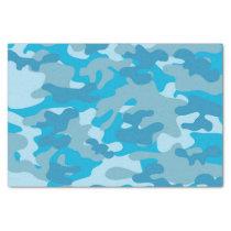 Blue and Gray Camo Design Tissue Paper