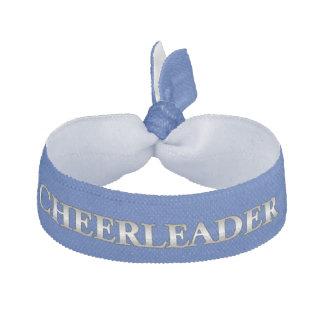 Blue and Gray Cheerleader's Head Band Ribbon Hair Ties