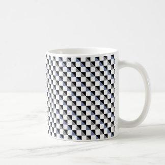 Blue and Gray Cube Illusion Mug