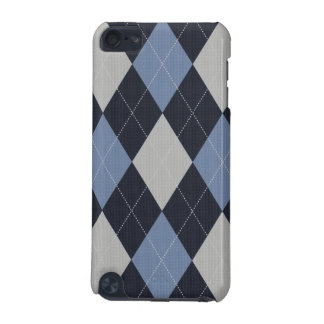 Blue and Gray Knitted Argyle Ipod Case iPod Touch 5G Case