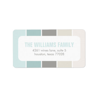 Blue and Gray Modern Color Blocks Label