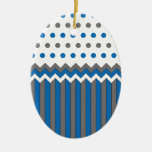 Blue and Gray Pattern Ornament