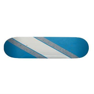 Blue and Gray Stripe skateboard