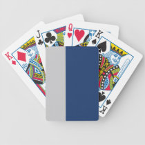 Blue and Gray Striped Bicycle Playing Cards