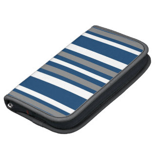 Blue and Gray Stripes Planner