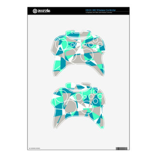 Blue and Gray Triangular Pattern Xbox 360 Controller Decal