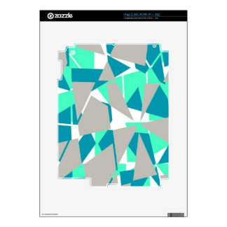Blue and Gray Triangular Pattern iPad 2 Skin