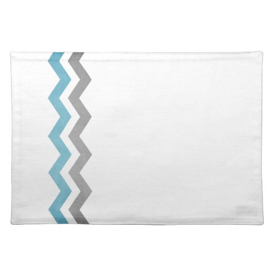 Blue and Gray Zig Zag Pattern Placemat
