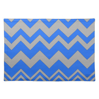 Blue and Gray ZigZag Chevron Placemat