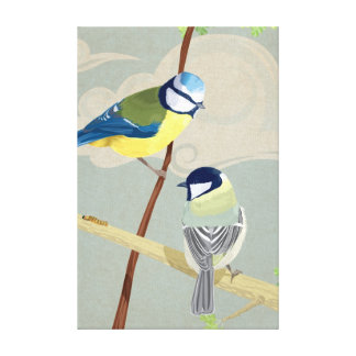 Blue and Great tit Canvas Print