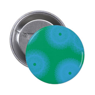 blue and green abstract art pinback buttons