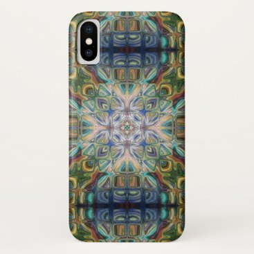 Blue And Green Abstract iPhone X Case