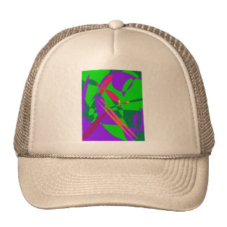 Blue and Green Abstract Composition Trucker Hat