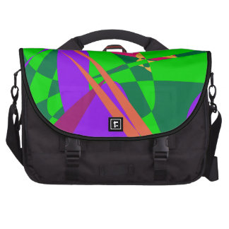 Blue and Green Abstract Composition Bag For Laptop