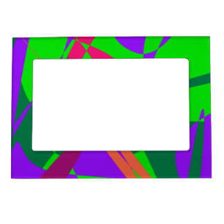 Blue and Green Abstract Composition Magnetic Photo Frame