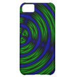 blue and green abstract iPhone 5C case