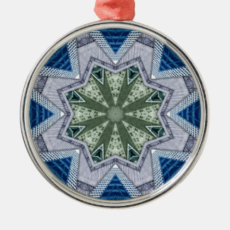 Blue And Green Abstract Metal Ornament