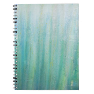 Blue and Green Abstract Notebook