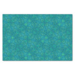 Blue and Green Abstract Pattern Tissue Paper