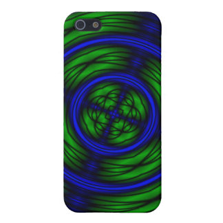 Blue and green abstract spin cases for iPhone 5