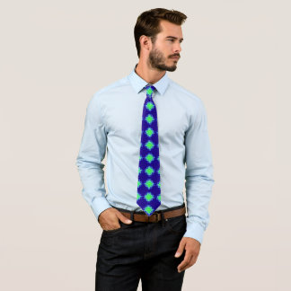 Blue and Green abstract Tie