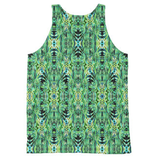 Blue and Green All-Over Print Tank Top