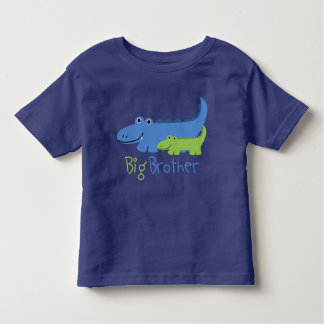 Blue and Green Alligator Big Brother Toddler T-shirt