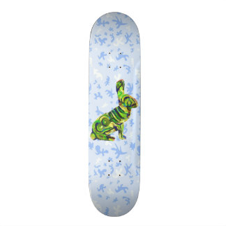 Blue And Green Amazing Bunny Board - For Skating!