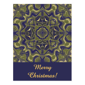 Blue and Green Arabesque Postcard