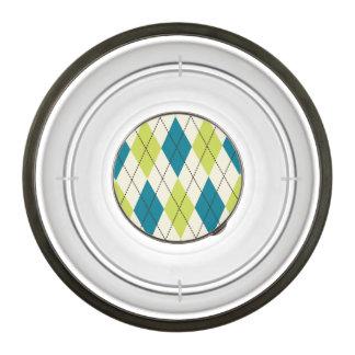 Blue And Green Argyle Bowl