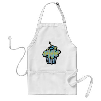 blue and green argyle cupcake adult apron