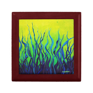 Blue and Green Art Memory Box Jewelry Boxes