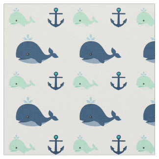 Baby whale fabric zazzle for Whale fabric