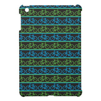 Blue and green Bike Bicycle pattern Cover For The iPad Mini