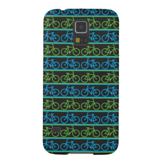 Blue and green Bike Bicycle pattern Galaxy S5 Cover