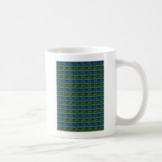 Blue and green Bike Bicycle pattern Mug