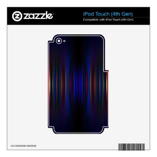 Blue and green blurred stripes pattern iPod touch 4G decal