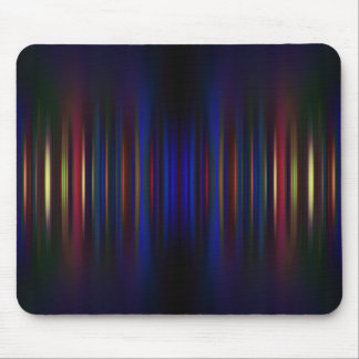 Blue and green blurred stripes pattern mouse pad