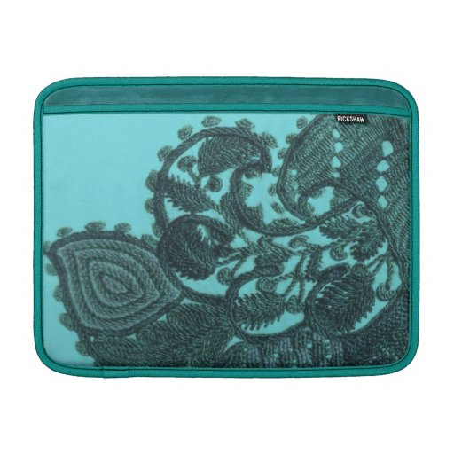 Blue And Green Bohemian Paisley MacBook Sleeve