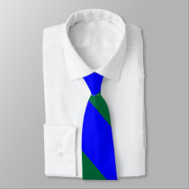 Blue and Green Broad University Stripe Tie