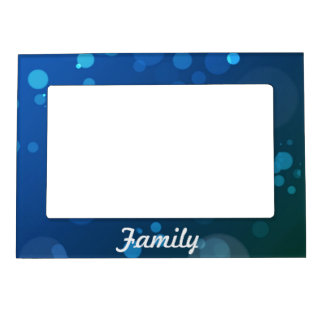 Blue and Green Bubbles Photo Frame Magnet