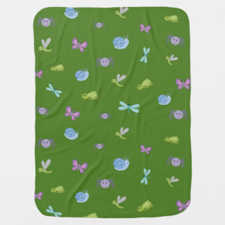Blue and Green Bugs and Slugs Blanket