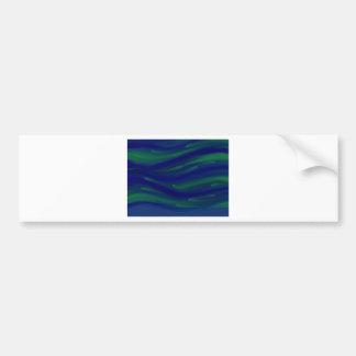Blue and Green Bumper Sticker